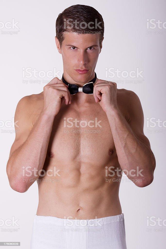 Handosome young stripper stock photo