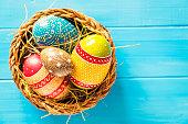 Shot of a nicely decorated Easter Egg Arrangement for Easter