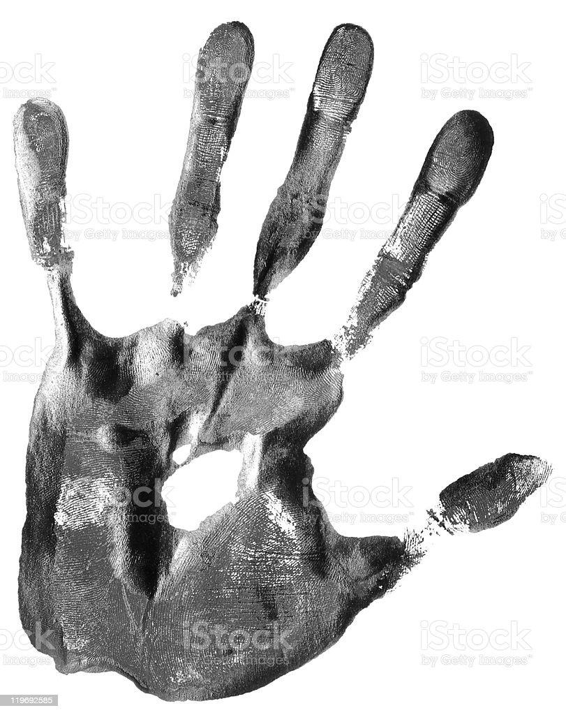 handprint royalty-free stock photo