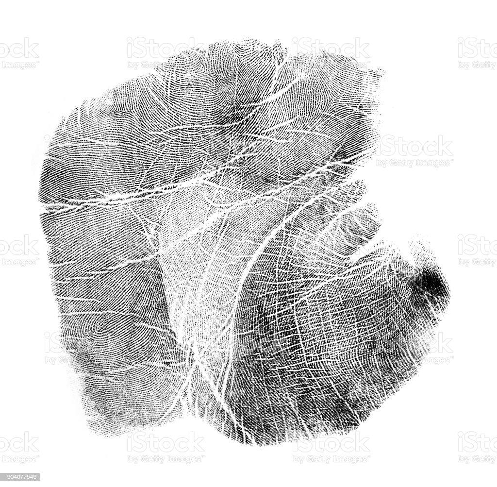 Marca da mão - foto de acervo