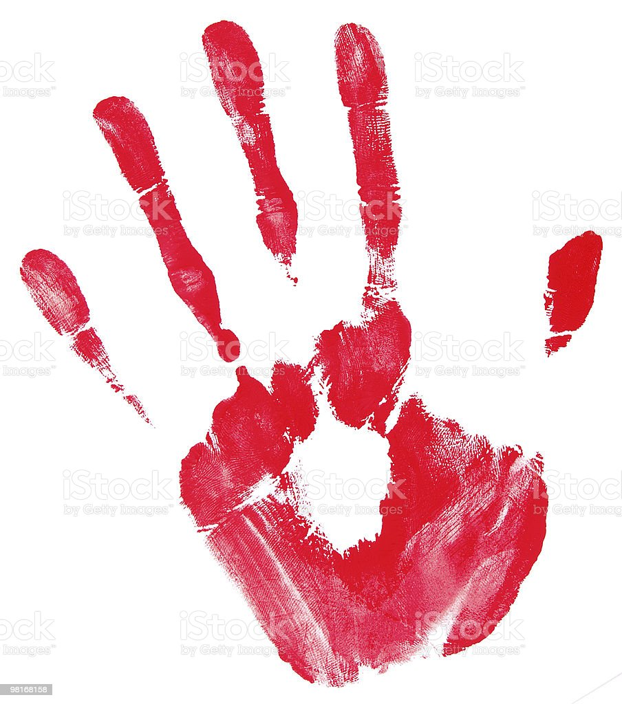 handprint royalty-free stock photo