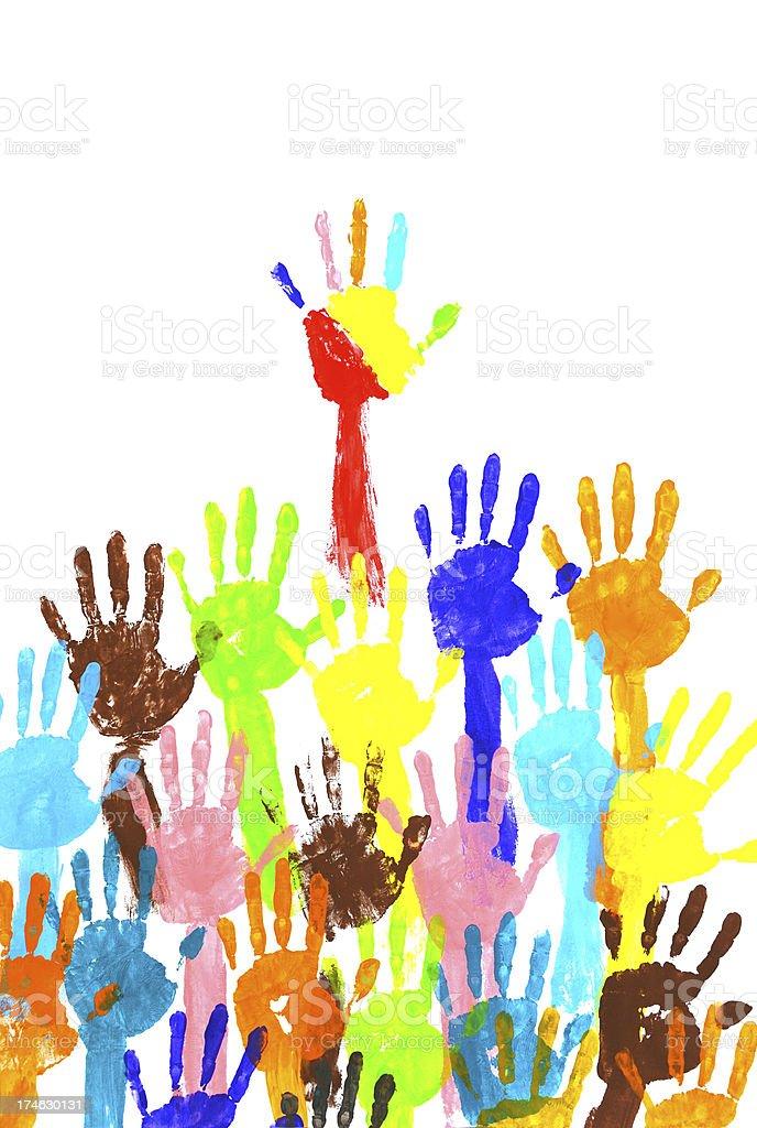 handprints  multicolor royalty-free stock photo