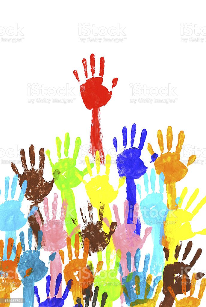 handprints  multicolor royalty-free stock photo