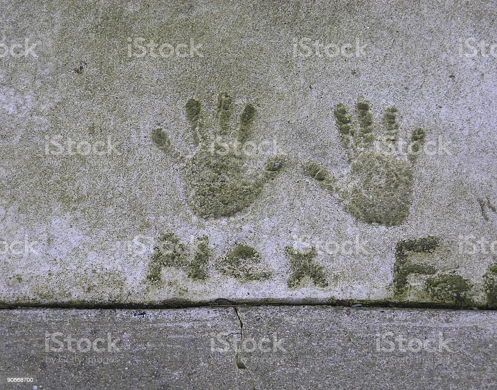Handprints royalty-free stock photo