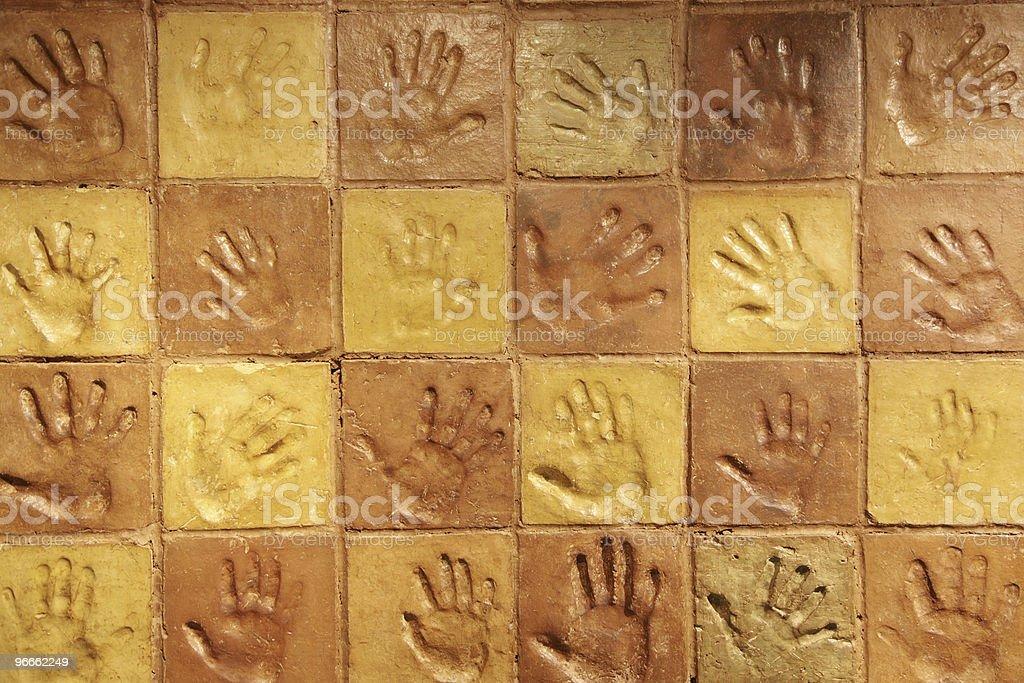 Handprints stock photo