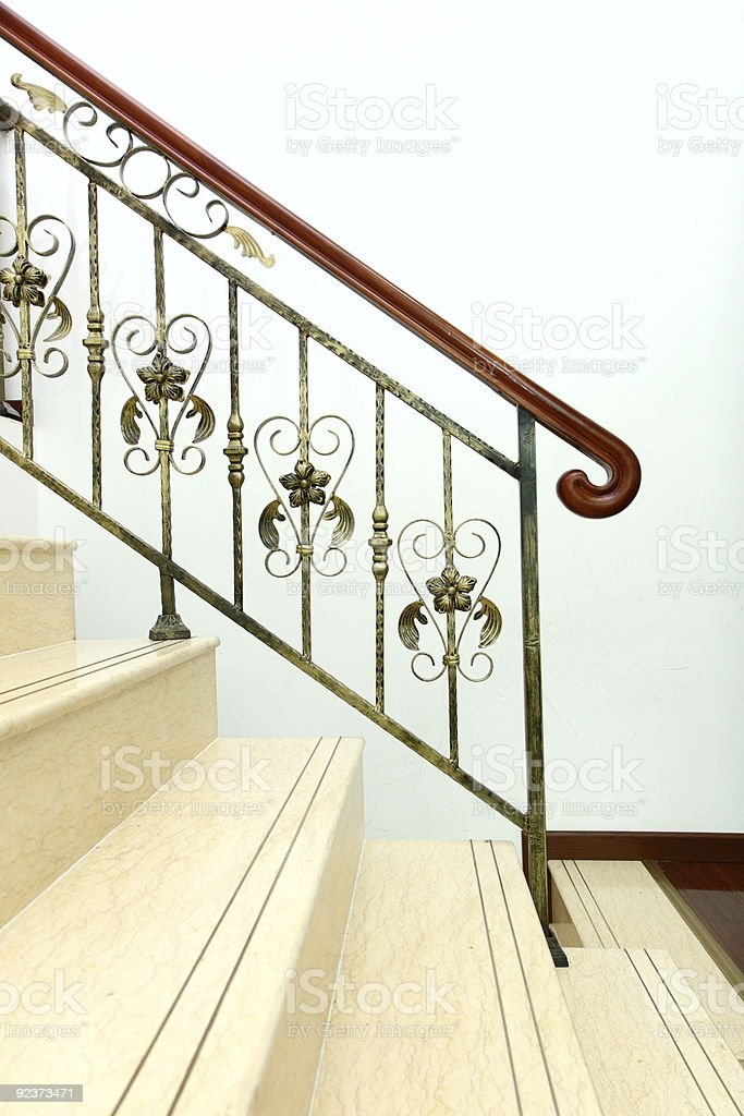 handrail of a stairway royalty-free stock photo