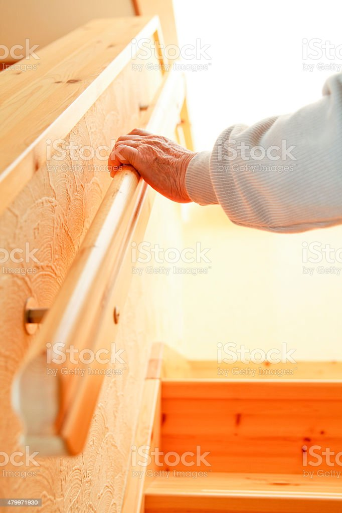 Handrail stock photo