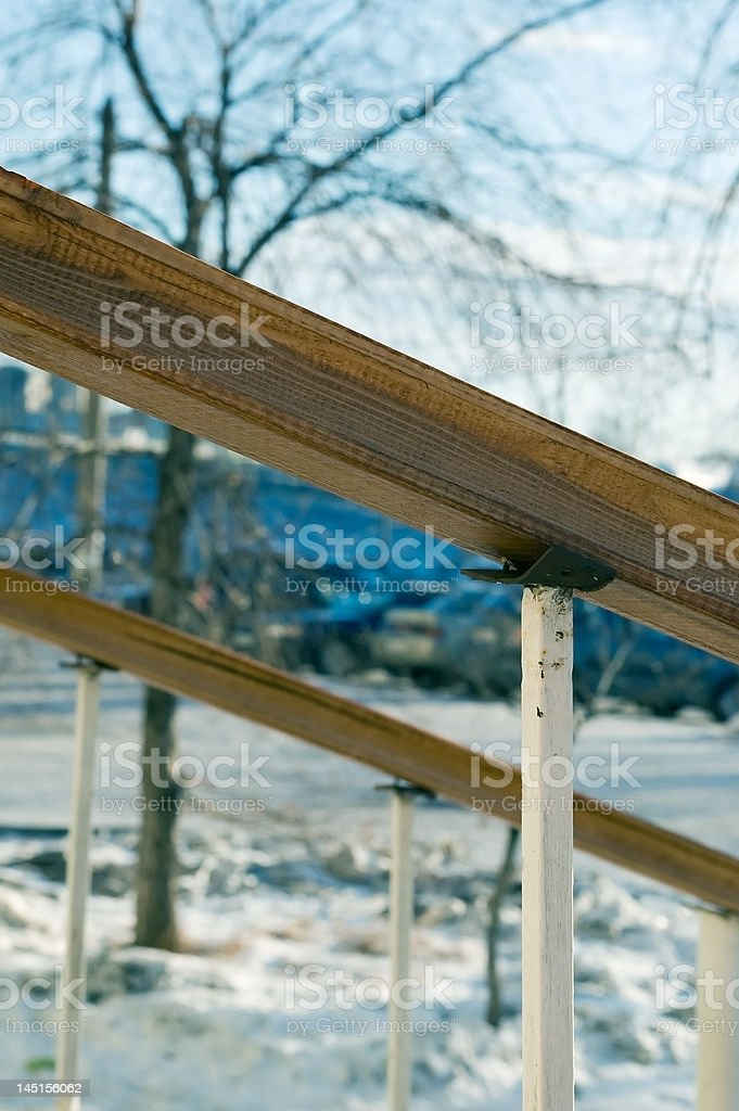 Hand-rails royalty-free stock photo