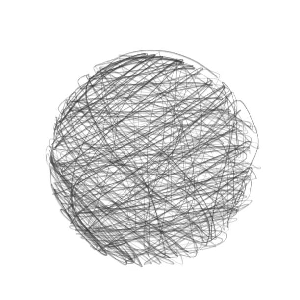 handrawed circle. - pencil drawing stock pictures, royalty-free photos & images