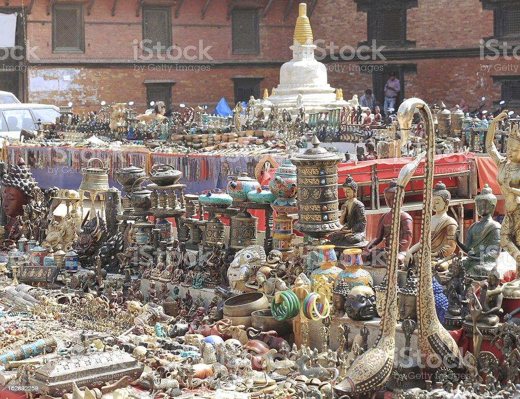 Handricraft stall, Patan. royalty-free stock photo