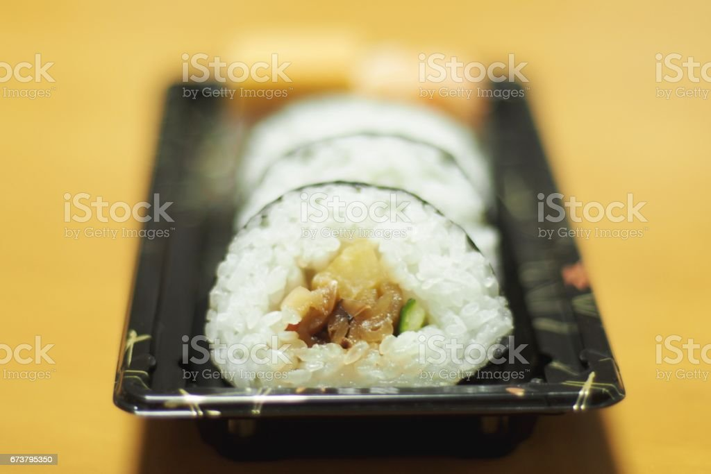 El haddelenmiş suşi, Japon yemekleri royalty-free stock photo