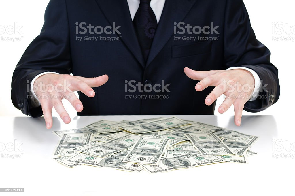hands above the money royalty-free stock photo