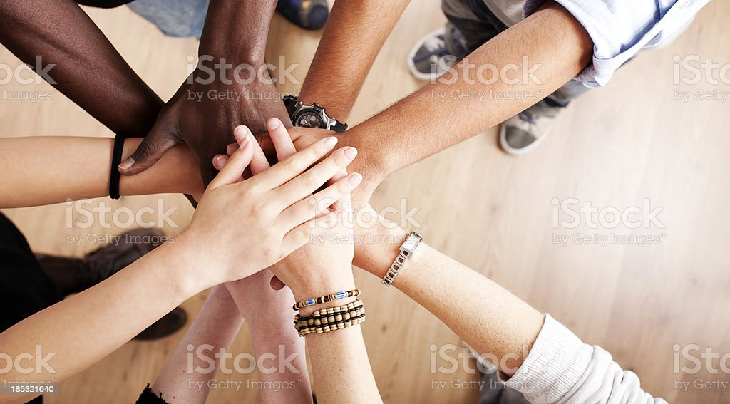 Hands all in - Royalty-free 20-29 Years Stock Photo