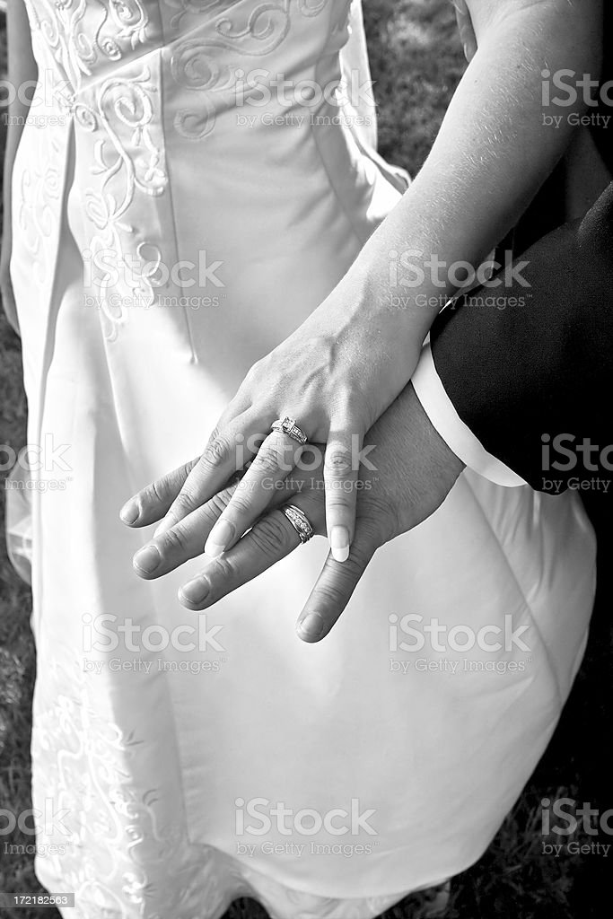 Hands & Bands wide angle royalty-free stock photo
