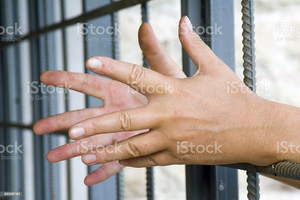 Hands and bar stock photo