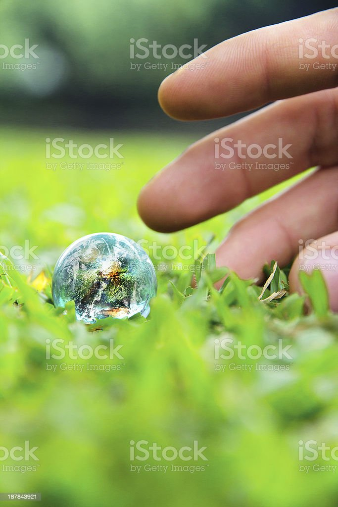 Hands and Earth royalty-free stock photo