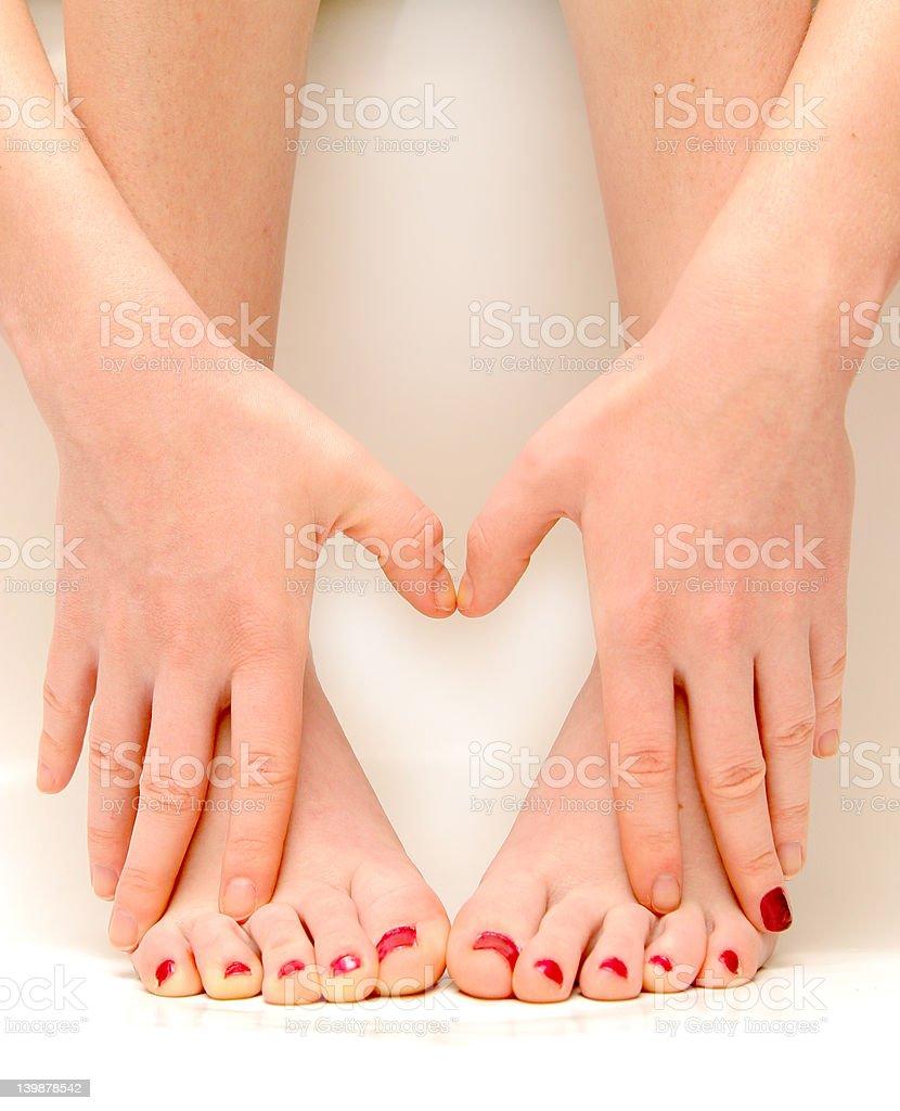 Hände und Füße lieben – Foto
