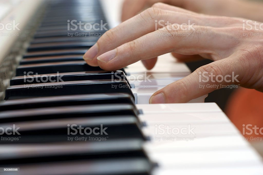 hands and piano player royalty-free stock photo