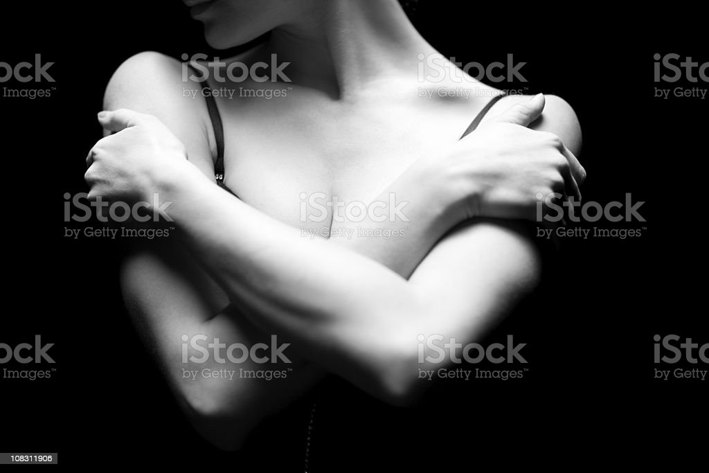 Hands and shoulders royalty-free stock photo