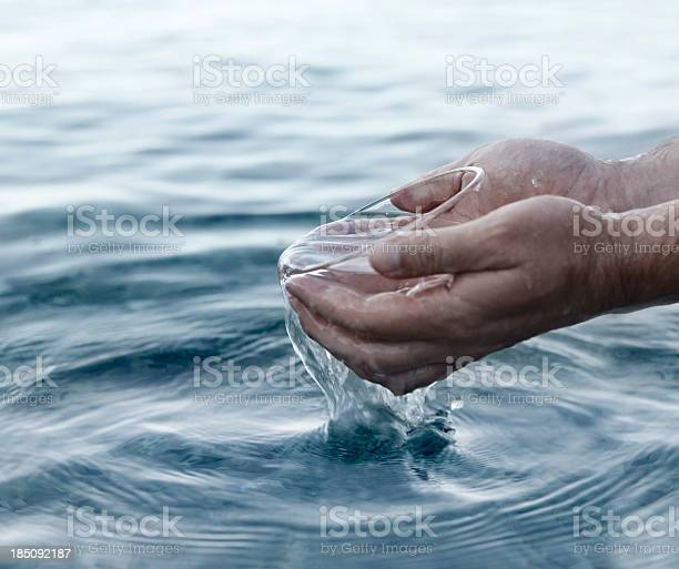 Photo of Hands and water