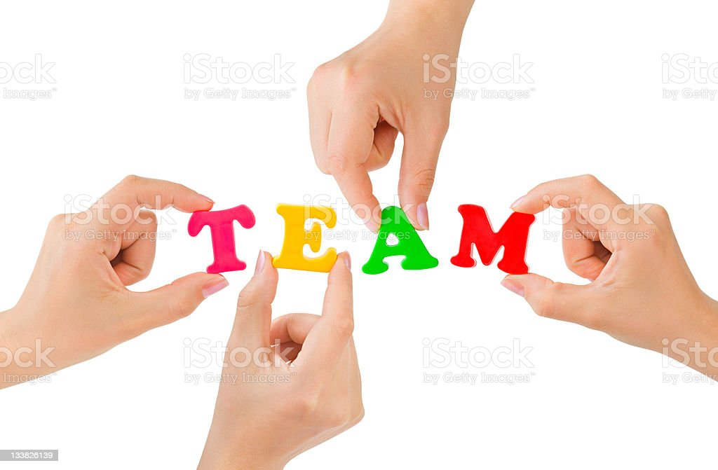 Hands and word Team royalty-free stock photo