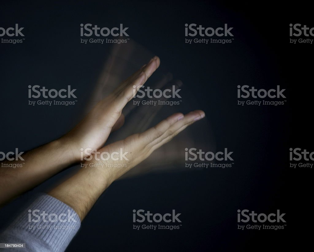 Hands applauding or clapping royalty-free stock photo