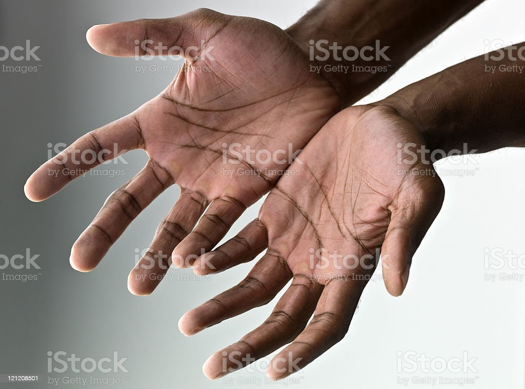 Hands begging royalty-free stock photo