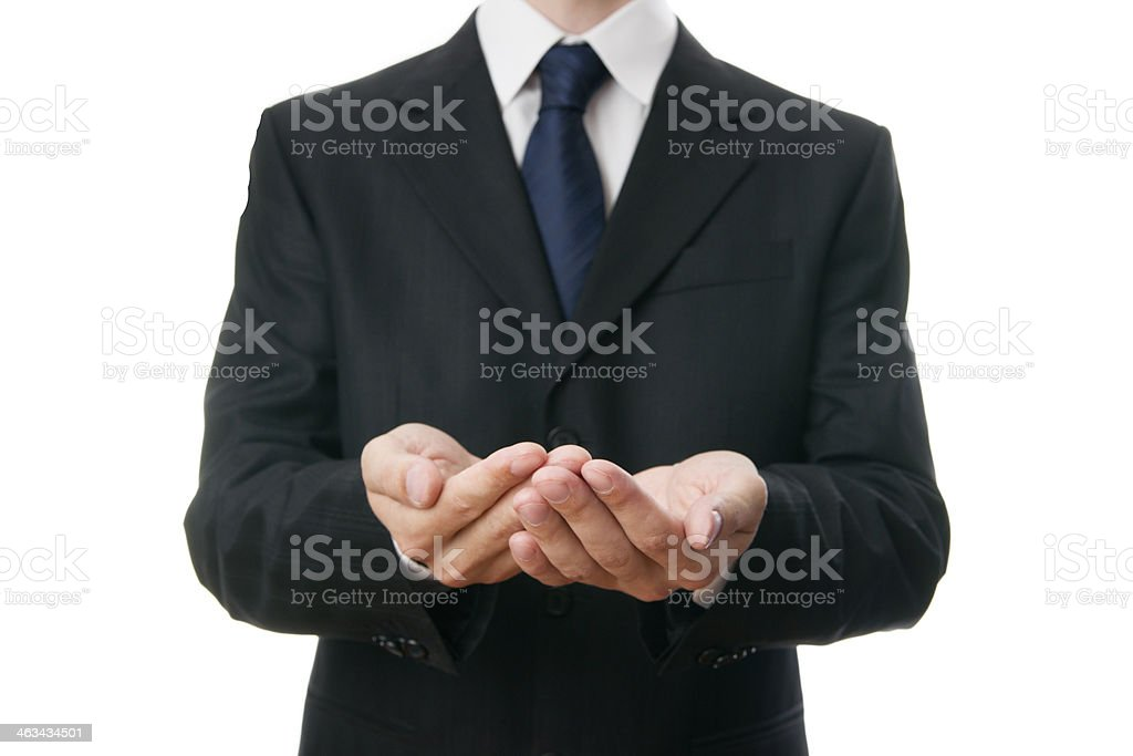 Hands businessman royalty-free stock photo