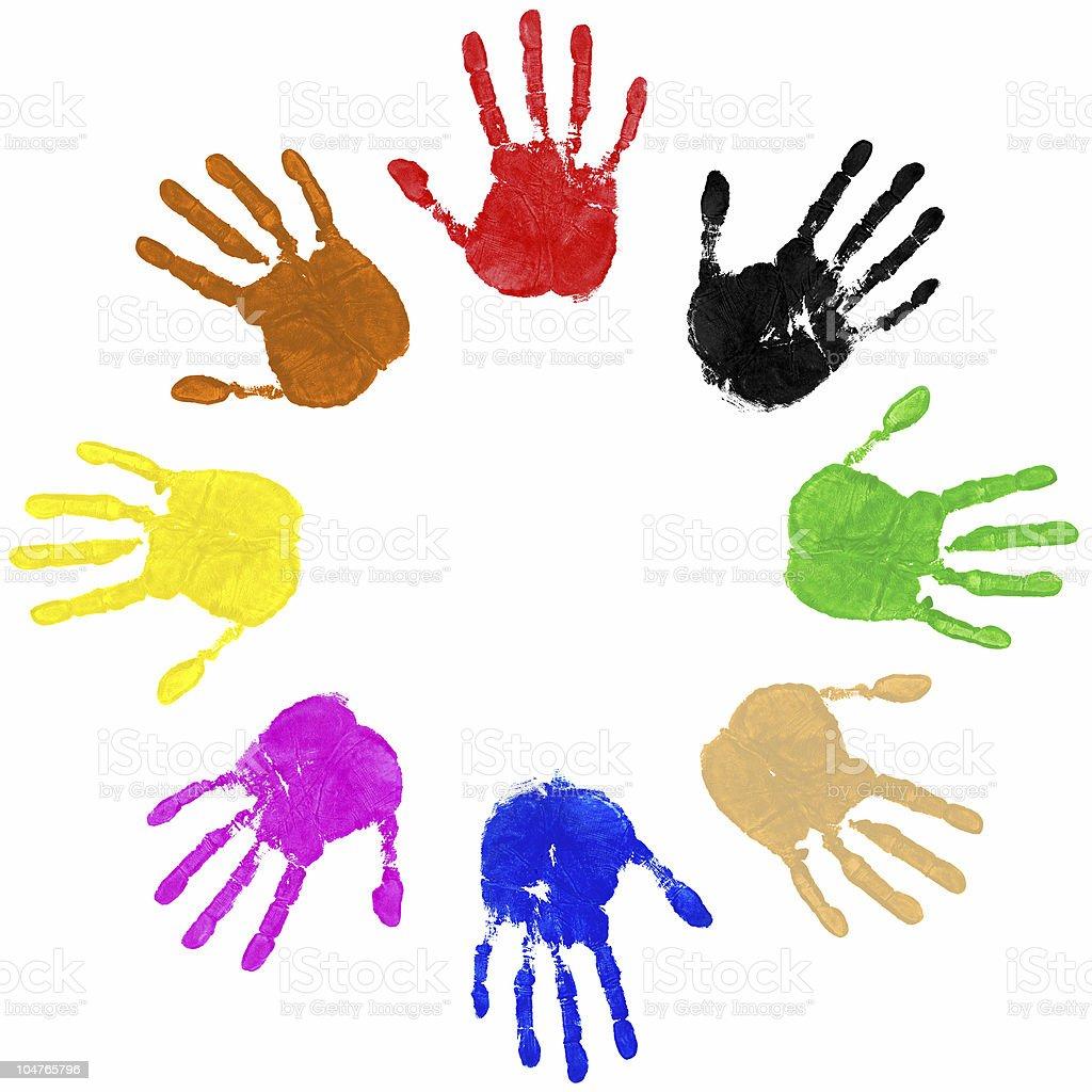 Hands Circle royalty-free stock photo