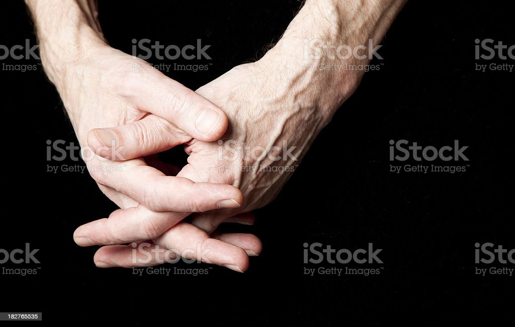 hands clasped royalty-free stock photo