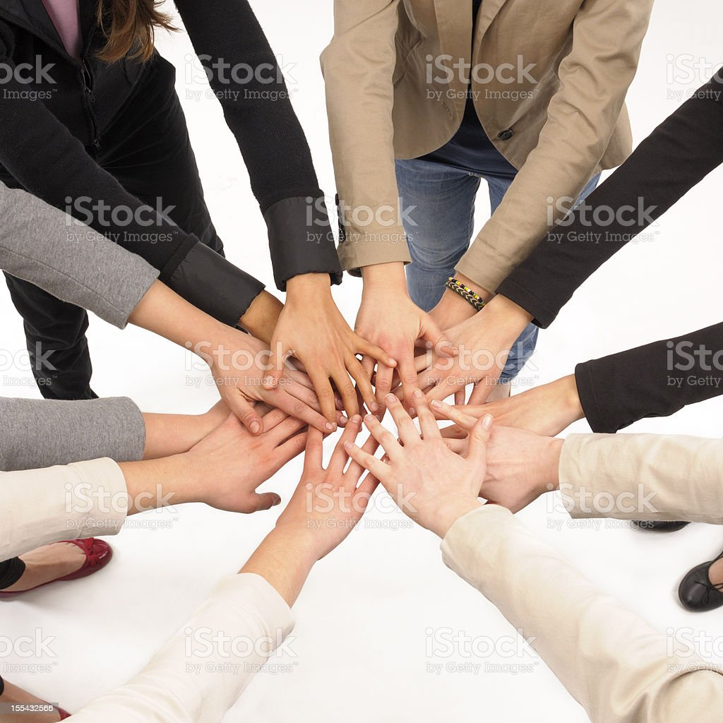 Hands Clasped.isolated royalty-free stock photo