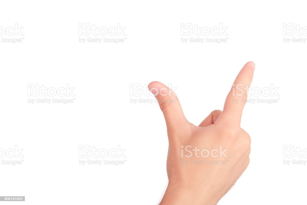 Hands concept. Virtual reality stock photo