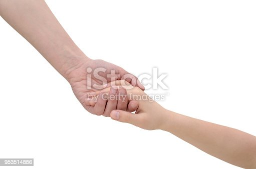 974882202istockphoto Hands connecting two people isolated on white background 953514886