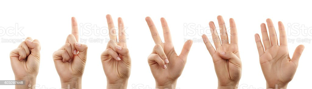 Hands counting stock photo