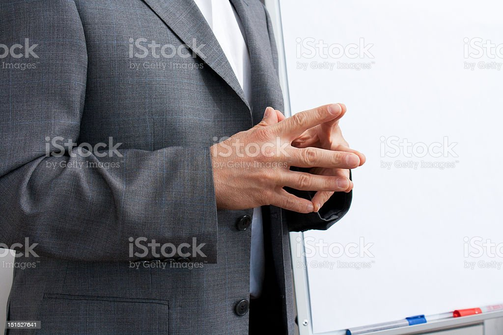 Hands crossed stock photo