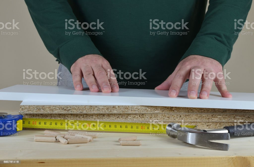 Hands, Elements and Tools royalty-free stock photo