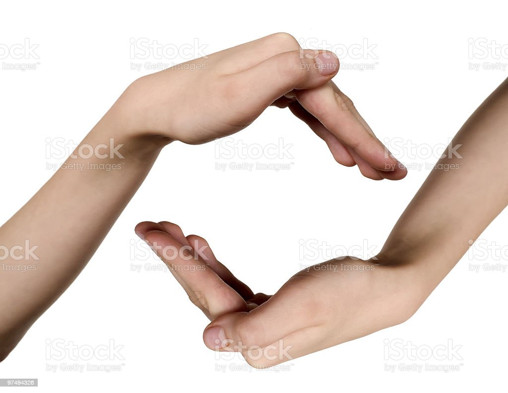 Hands for care idea royalty-free stock photo