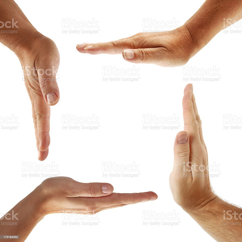 Hands Forming a Square royalty-free stock photo