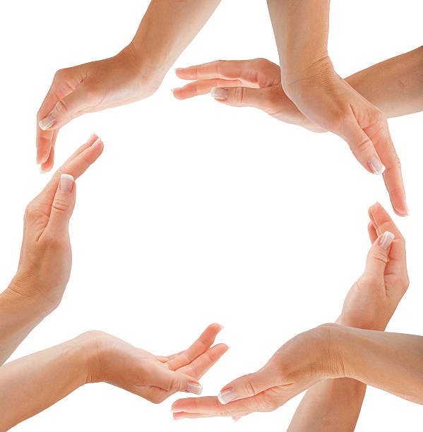 Hands forming circle shape