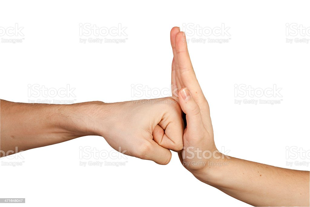 Hands gesture. stock photo