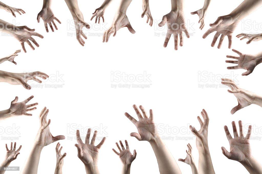 Hands grabbing something stock photo