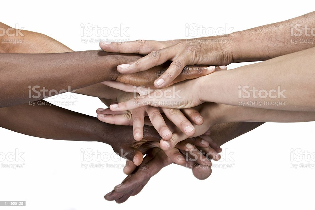 Hands group stock photo