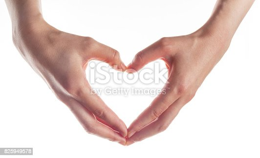 istock hands heart shape, Expression of love 825949578