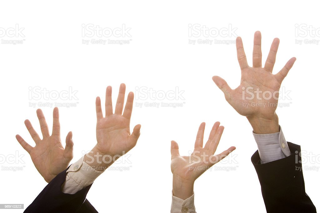 Hands high up royalty-free stock photo
