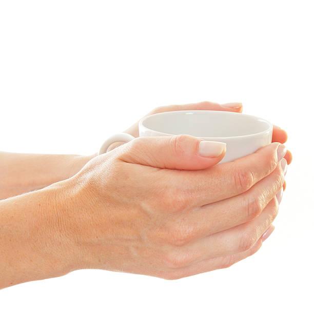 Hände holding cup – Foto
