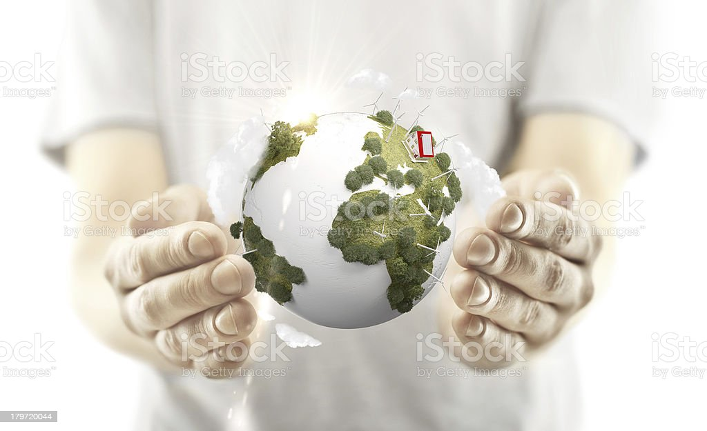 hands holding earth royalty-free stock photo