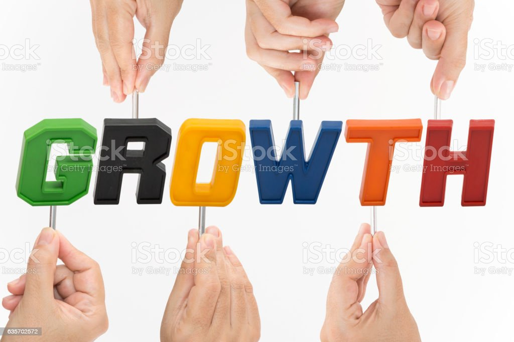 Hands Holding GROWTH royalty-free stock photo