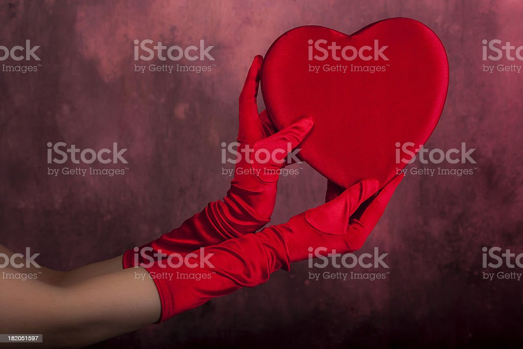 Hands holding Heart shape for St. Valentine stock photo