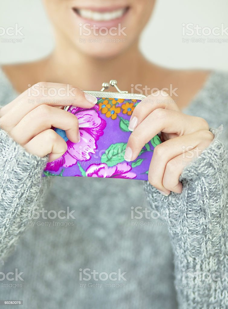 hands holding money pocket wallet stock photo