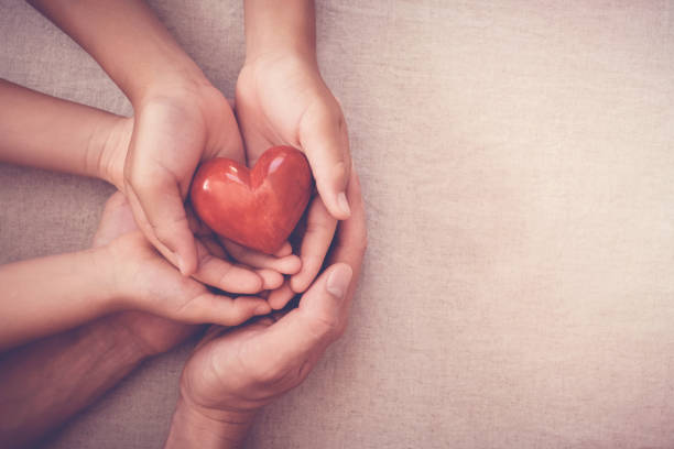 hands holding red heart, health insurance, donation concept - blood donation stock pictures, royalty-free photos & images